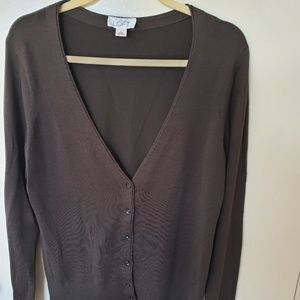 Ann Taylor Loft Brown Cardigan Size L